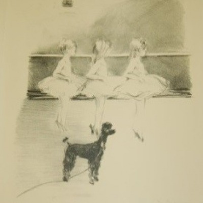 Little Ballerinas by Margery Ryerson, 1949 Lithograph