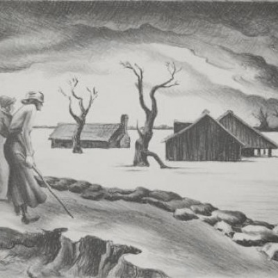 Flood by Thomas Hart Benton, Lithograph 1937