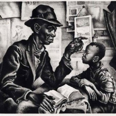 Instruction by Thomas Hart Benton, AAA Lithograph 1942