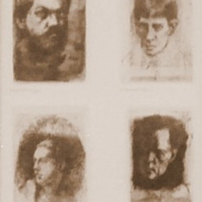 Four Artists by William Joseph Patterson, AAA Etching 1972