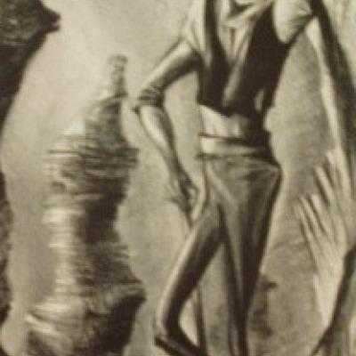Finn McCool by William Gropper, Lithograph 1949